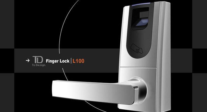 L100指纹锁-正面